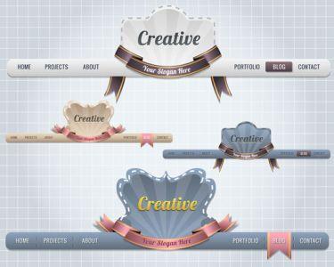 Website header template vector