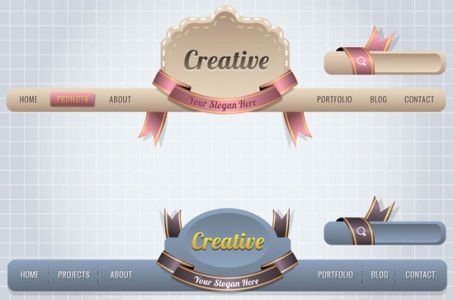 Website header template vector
