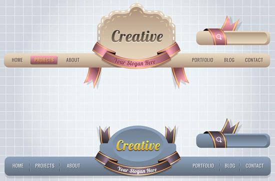 website headers design vectors