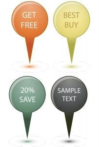 Website sale tags vectors