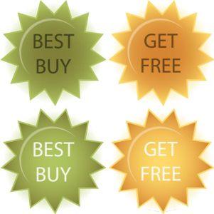 Website sale tags vectors
