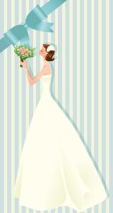 Wedding bride card vector