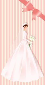 Wedding bride card template