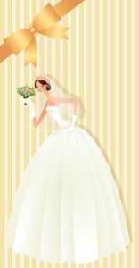 Wedding bride card design