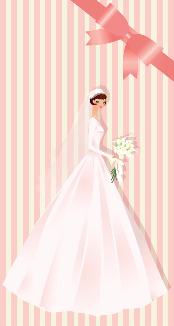wedding bride card template