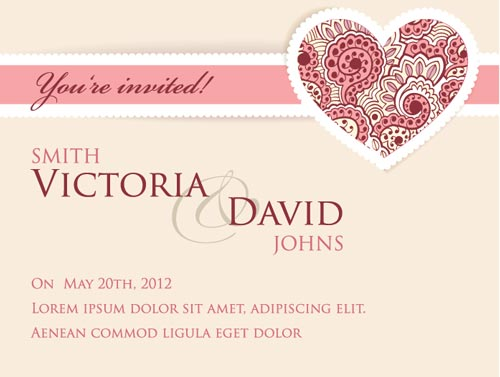 Invitation Wedding Card: Wedding Invitation Cards Vectors