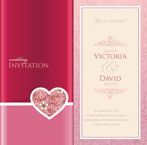 Wedding invitation cards vectors wedding invitation card vector stopboris Images