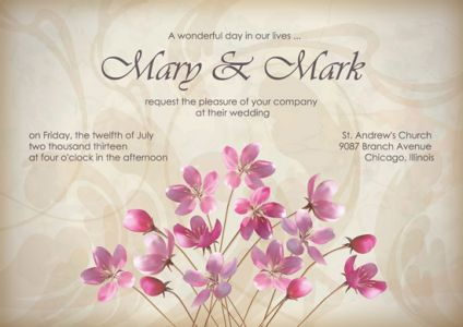 Wedding invitations and cards vectors