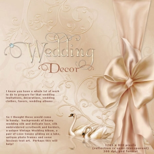 Wedding ornaments frames