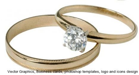 Wedding rings template
