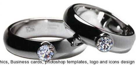 Wedding rings layout