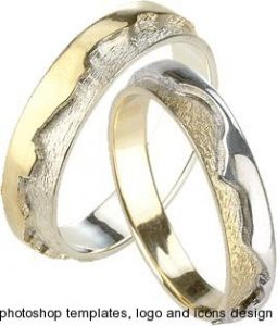 Wedding rings for photoshop