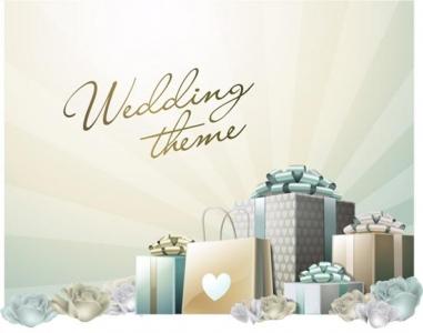 Wedding template vector