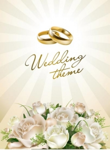 Wedding template vector design