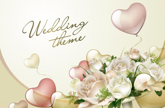wedding template vectors, Wedding invitation
