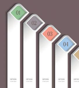 Trendy vertical design template