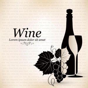 Wine list vector banners