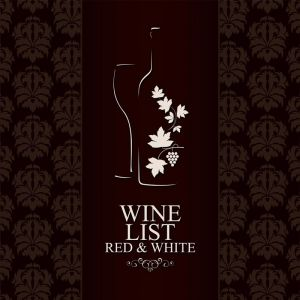 Wine list vector banners