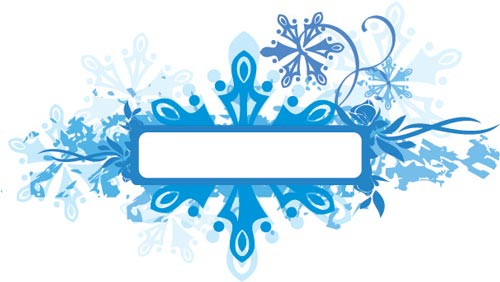 vector labels with winter frames - Winter Photo Frames