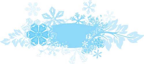 vector labels with winter frames - Winter Frames