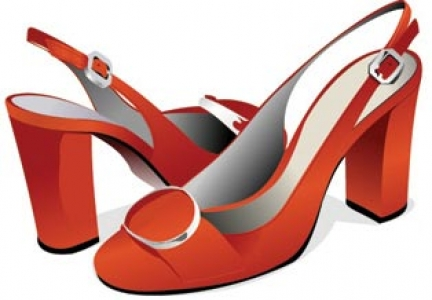 Woman shoes template