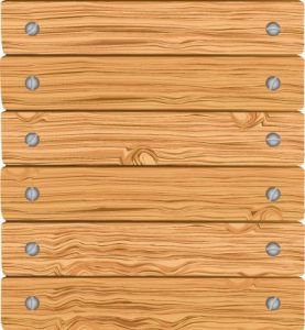 Wooden list board vector template