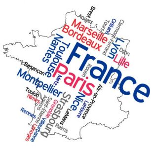 France word collage vector