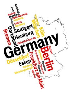 Germany word collage vector