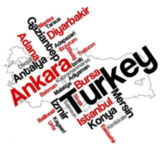 Turkey word collage vector