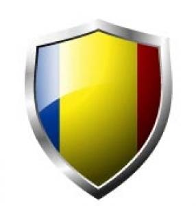 Romania Flag in shield format