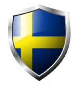 Sweden Flag in shield format