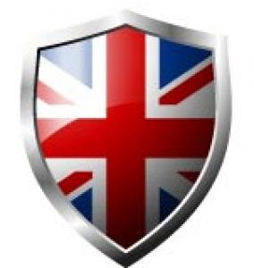 UK Flag in shield format