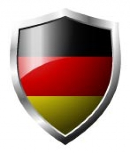 Germany Flag in shield format