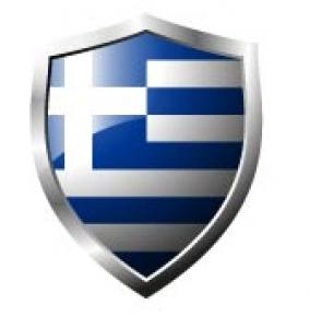 Greece Flag in shield format