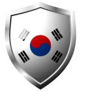 South Korea Flag in shield format