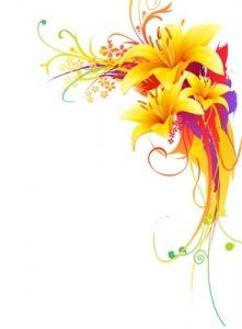Yellow lily layout