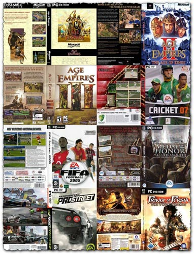 102 game DVD covers collection