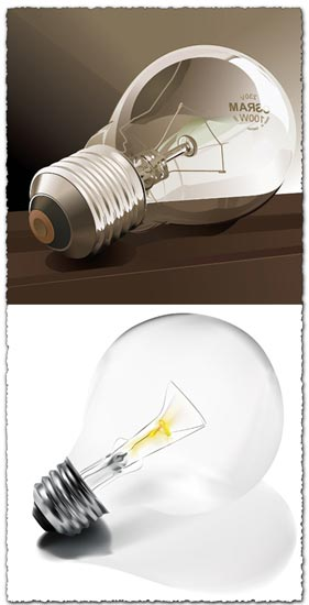 Light bulbs vector design