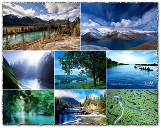 Rivers, mountains and landscapes wallpapers