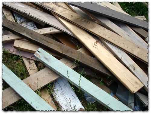 Abandoned trash wood texture