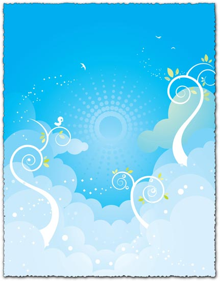 Blue sky background vector eps design