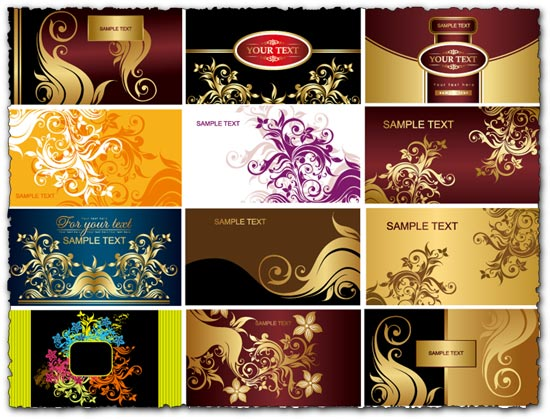 Business cards vector collection set
