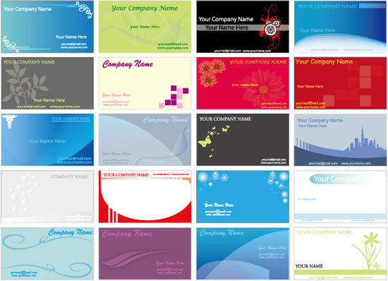 Business cards design eps vectors for download business cards vector collection reheart Gallery