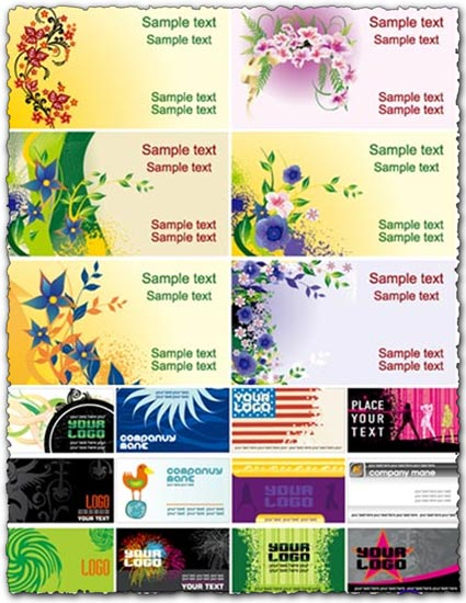 Vector business cards layouts