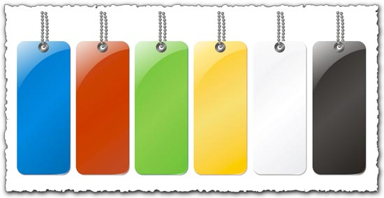 Sales labels with different colors vector