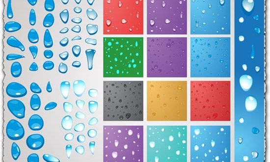 PNG water drops vectors