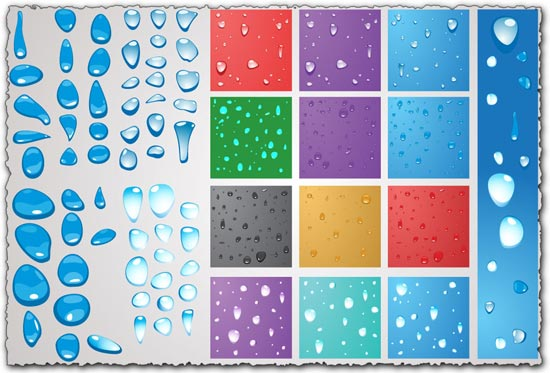 Water Drops Vector EPS