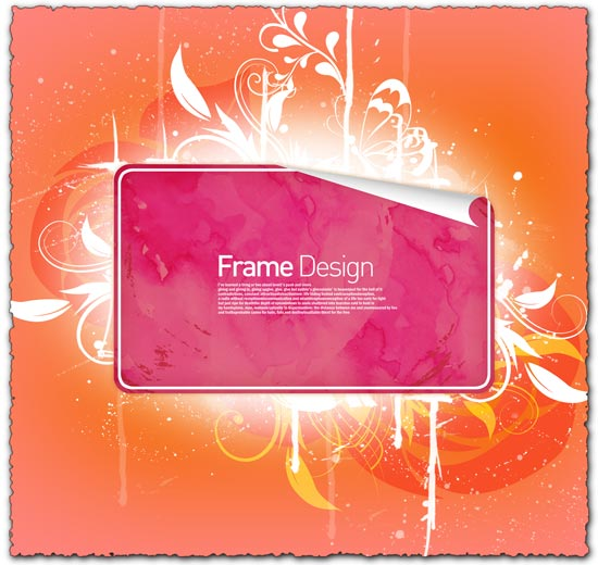 Frame with flowers photoshop design