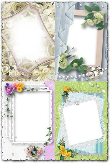 Have a look at this frame wedding psd. It's true that this kind of