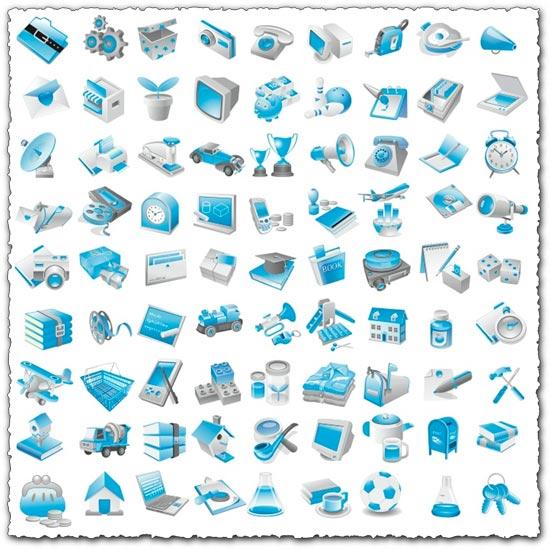 Free blue icon vectors